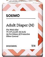 Amazon Brand - Solimo Adult Diapers - 10 Count (Medium)