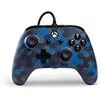 PowerA Wired Officially Licensed Controller for Xbox One, Xbox One S, Xbox One X & Windows 10 - Stealth Blue Camo
