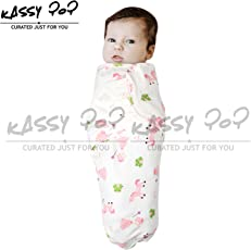 Square Baby's Cotton Kassy 100% Adjustable Infant Swaddle (Wrap), Free size