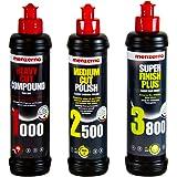 menzerna 250 ml: Heavy Cut Compound 1000 & Medium Cut Polish 2500 & Super Finish 3800 250 ml