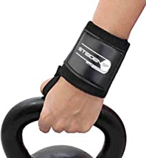 STEIGEN Fitness Power Cotton Gym Support with Thumb Support Grip Gloves (Black)- 1 Pair Wrist Support (Free Size, Black)