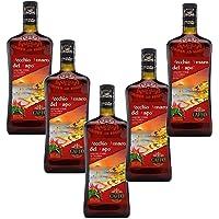 Sicilia Bedda - Vecchio Amaro del Capo RED HOT EDITION al peperoncino piccante calabrese - 5 Bottiglie da 700 Ml - Idea…