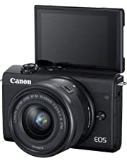 Canon EOS M200, EF-M 15-45mm f/3.5-6.3 is STM Lens, 24.1 MP, 16 GB Memory Card and Carry case