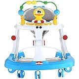 baby plus Baby Walker with Swivel Wheels, 70 x 13 x 64 cm, Blue