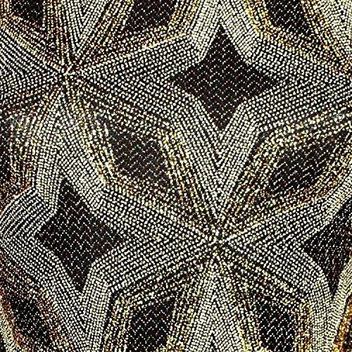 PILOT® francesca impression métallique transversale arrière de la robe moulant... noir et or