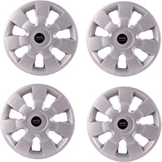 "Autofy 13"" 7 Spokes Snap-On Universal Wheel Cap Wheel Cover Hub Cap (Set of 4, Grey)"