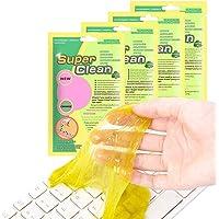 4Pack Gel Nettoyant Clavier, KNMY Super Clean Gel Nettoyant Réutilisable Clavier Nettoie la Poussière et la Saleté pour…