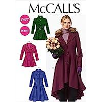 McCall Pattern pour Jeune Femme/Miss Petite bordée de Manteaux, Ceinture et col détachable - 6-8-10-12 - 14 de modèle