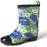 gracosy Stivali da Acqua Donne Stivali da Pioggia Piatto Chelsea Moda Rain Boot Giardino Scarpe Autunno Inverno Impermeabile