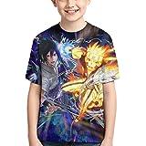 Camiseta de Anime Camiseta de Anime para Niños Camiseta Estampada con Gráficos en 3D Cool Anime Manga Corta para Adolescentes