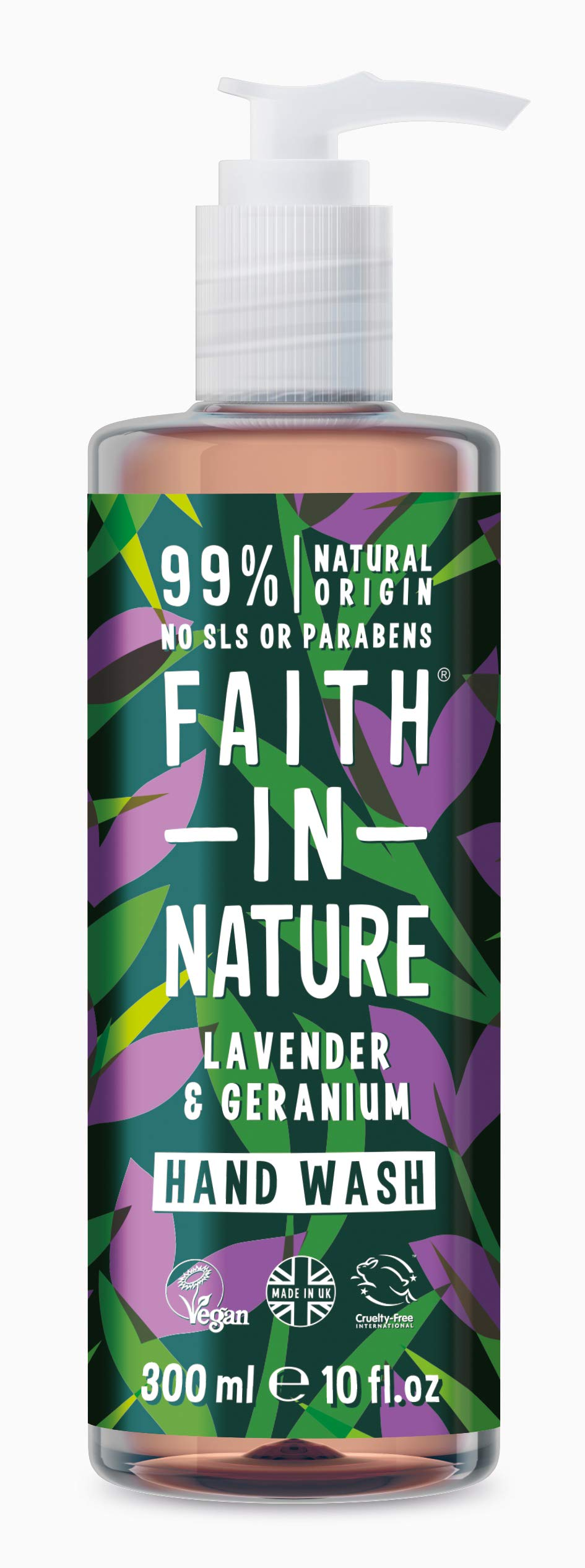 Faith In Nature Lavender & Geranium Soothing Natural Hand Wash 300ml 2