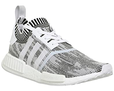 82ad3c30a adidas NMD R1 Prime Knit White White Black - 7 UK  Amazon.co.uk  Shoes    Bags