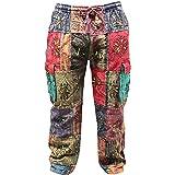 SHOPOHOLIC FASHION Unisex Traditional Symbols Hippy Boho Trouser,Festival Pants