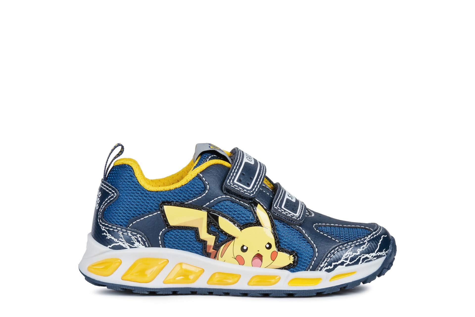 Geox C4054 NavyYellow Scarpa Bambino Sneakers J8294C