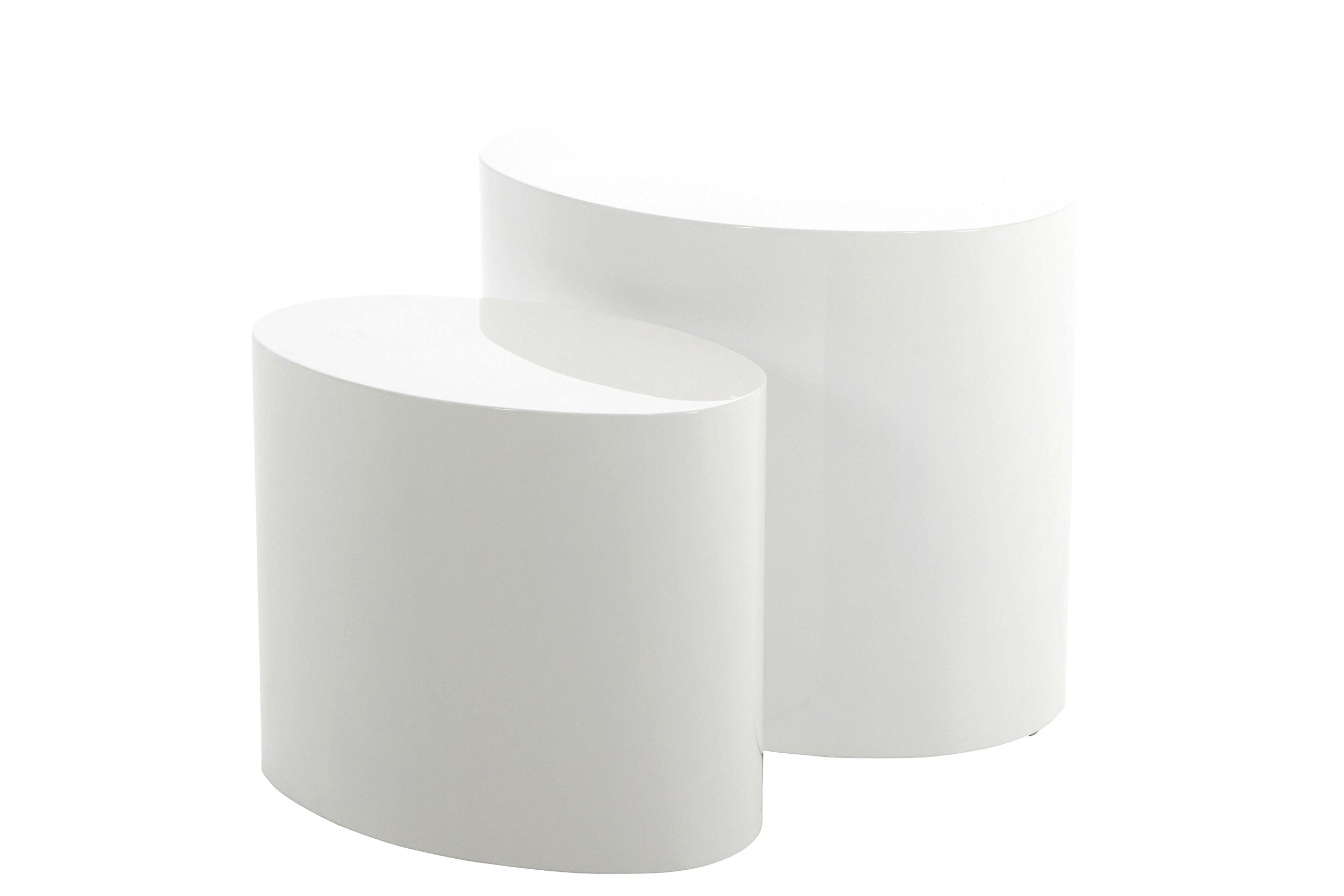 Ac design rico table basse bois blanc brillant