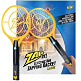ZAP IT! Elektronische vliegenmepper, oplaadbaar via USB, muggen, vliegen en kevers, 4000 V, super helder LED-licht (Large)