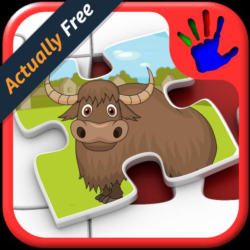 Bambini Zoo animali forme Jigsaw Puzzle - gioco educativo per bambini giovane insegna corrispondenti abilità adatta per bambino e pre scuola ragazzi e ragazze 2 +