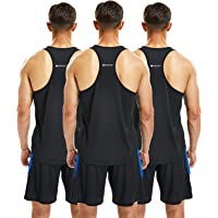 frueo 3 Pack Running Muscle Tank Top for Men DRT-Fit Workout Sleeveless Tops Breathable Y-Back Shirts Training…