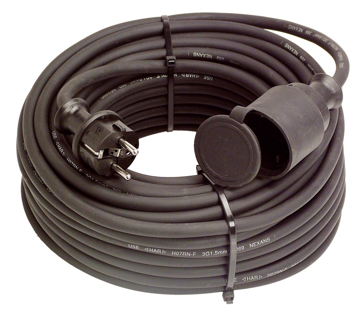 As-Schwabe 880183 - Prolunga, 250 V/16 A, 20 m, IP44, per uso edilizio