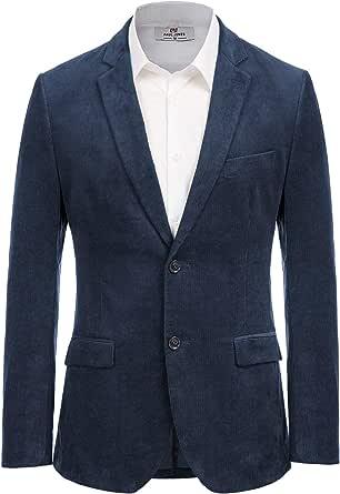 Paul Jones Men's Corduroy Casual Sport Coat Jacket Slim Fit 2 Button Blazer