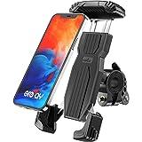 Grefay Fiets Telefoonhouder, Anti-Shake Snelspanner, Roestvrij Staal, 360 Graden Draaibaar, voor Smartphones van 4,7-6,9 Inch