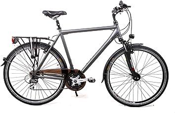 "28"" Zoll Alu Herren MIFA Trekking Fahrrad Shimano 24 Gang Nabendynamo Rh 60cm grau"