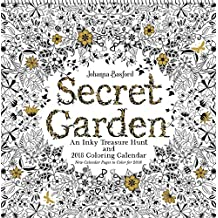 Johanna Basford Secret Garden 2018 Wall Calendar