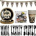BETOY Harry Potter Set Festa di Compleanno 41PCS Set per Feste di Wizard Mago Decorazioni Party Tableware Kit Festa in Tavola
