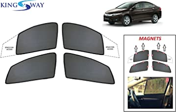 Sun shades buy sun shades online at best prices in india amazon kingsway kkmmsshf00083 half magnetic sun shadescurtains for honda new city 2017 model onwards fandeluxe Image collections