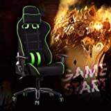 Gaming Chair Racing Chair Ergonomic High Back Swivel Chair Computer Chair PC Gamer Office Chair with Lumbar Support and Headr