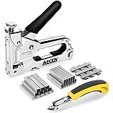 AECCN Grapadora Manual 3 en 1 con 2100 Grapas - Grapadora para Uso Serie (Incluye Extractor Grapas) para tapicería, material