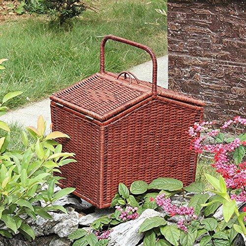 SLttR Natürliche Pflanze Rebe Pure Hand Weaving Umweltschutz Kreative Picknick Korb Hand Korb Rattan Sammlung Korb