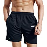 LUWELL PRO Men's Running Shorts with Pockets Quick Dry Breathable Active Gym Shorts for Workout,Training,Jogging