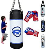 RDX Sac de Frappe Enfant Rempli Lourd Junior Punching Ball MMA Muay Thai Kickboxing Arts Martiaux Boxe Gants Chaine Suspension Punching Bag