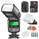 Neewer Kit de Flash 750II iTTL: Neewer Flash 750II iTTL+Mini Softbox de Diffuseur+35 Filtres+Diffuseur+Déclencheur 16…