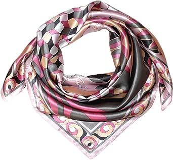 Lorenzo Cana - Lussuoso foulard da donna di seta con lavorazione a stampa, 100% seta, 90x 90cm, colori armoniosi, 89033