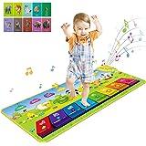 RenFox Alfombra Musical de Piano, Alfombra Musical 7 Instrumentos Suenan Alfombra 4 Modos, Alfombra de Teclado para Niños Ins