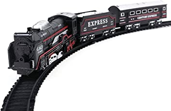 RK ToysBattery Operated Train Set with Beautiful Light and Sound Train for Kids, Black