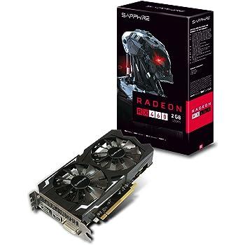 Sapphire 11257-00-20G - Tarjeta gráfica (400 W, AMD, Radeon RX 460 a 1090 MHz, HDMI), Negro