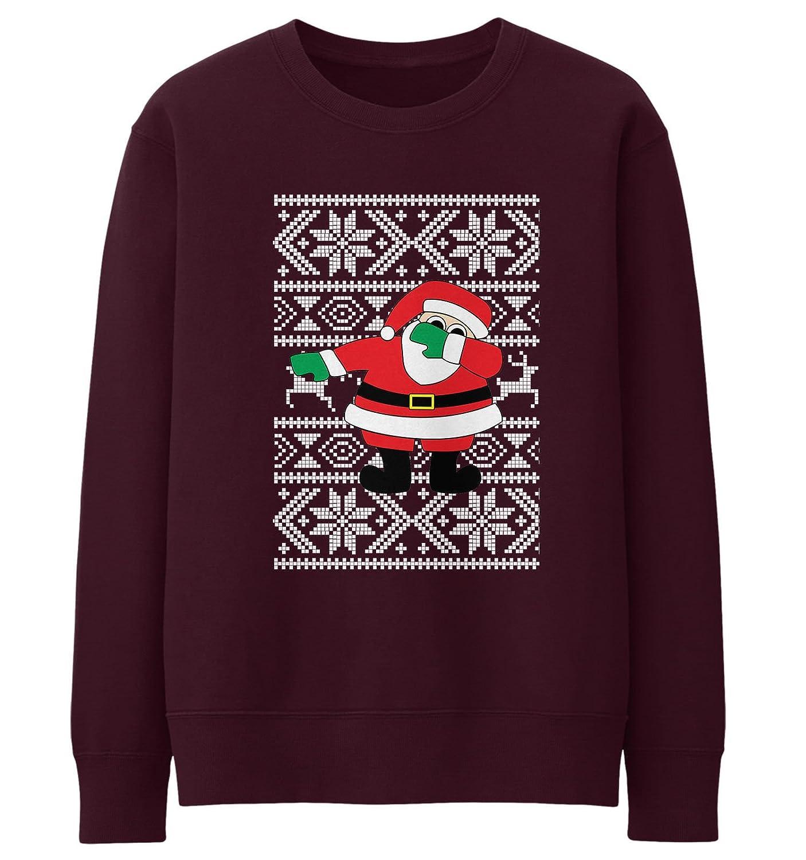 Santa Dabbing Christmas Sweater: Amazon.co.uk: Clothing