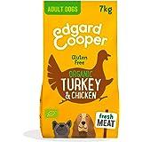 Edgard & Cooper Pienso Perros Adultos Comida Seca Organico Sin Cereales 7kg Pavo y Pollo Fresco, Naturalmente fácil de digeri