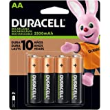 Duracell - Rechargeable AA Batteries - long lasting, all-purpose Double A battery for household and business DAA AA-Rechx4