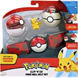 Pikachu POKEMON - Clip & Go Poke Ball Belt Set Become a Pokémon Trainer with the Clip N Go Poké Ball Belt!