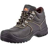 KAM-LITE Bottes de Travail en Cuir pour Hommes Chaussures de sécurité imperméables antidérapantes Chaussures de Travail…