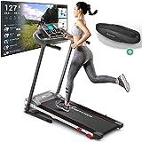 Sportstech Tapis de Course F10 modèle 2020 - Marque de qualité Allemande + Video Events & Multiplayer APP - Nouvelle Console