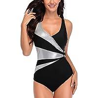 AOQUSSQOA Women Swimming Costume Leopard Sexy V-Neck One-Piece Monokini Tummy Control Swimwears Plus Size Bathing Suits…