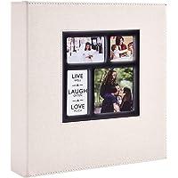 Benjia Album Photo 600 Pochettes 10x15cm Photos Grand Format Famille Mariage Classique Couverture Lin (60 Feuilles, 120…