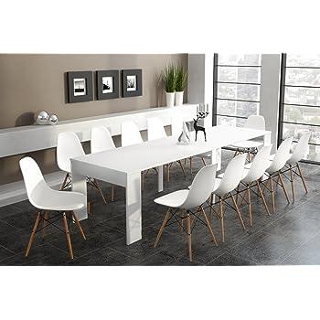 Comfort home innovation table de salle à manger extensible jusquà 301 cm