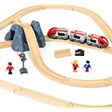 BRIO World Railway Starter Train Set A for Kids Age 3 Years Up - Compatible with all BRIO Railway Sets & Accessories