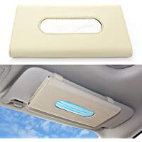 iDattel Boîte à mouchoirs en cuir synthétique - Support pour mouchoirs de voiture (kaki)